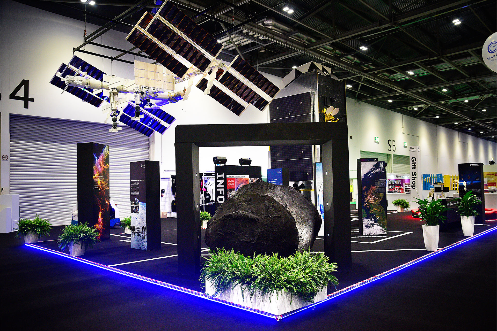 ESA Exhibition Stand 2016, Exhibition Stand Design and Build by Ouno Creative, Farnborough.