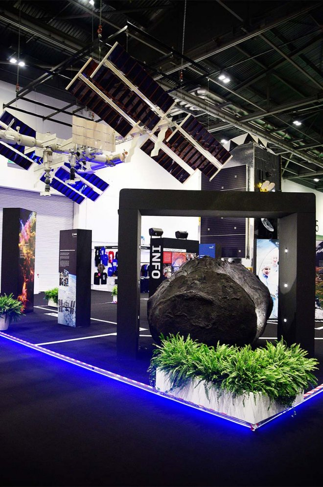ESA Exhibition Stand 2016, Exhibition Stand Planning by Ouno Creative, Farnborough.