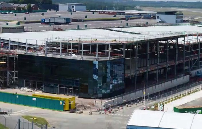 Farnborough International Exhibition Centre Timelapse