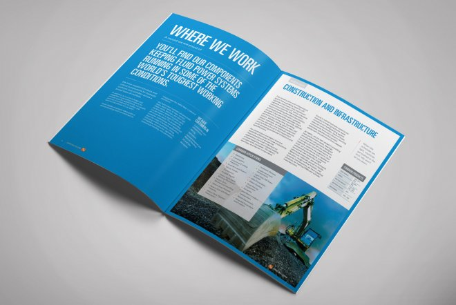 Hallite brochure design and branding by Ouno Creative, Hampshire.