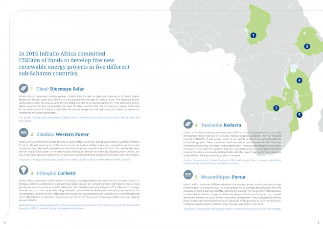 InfraCo Africa Annual Report Design and Print by Ouno Creative, Hampshire