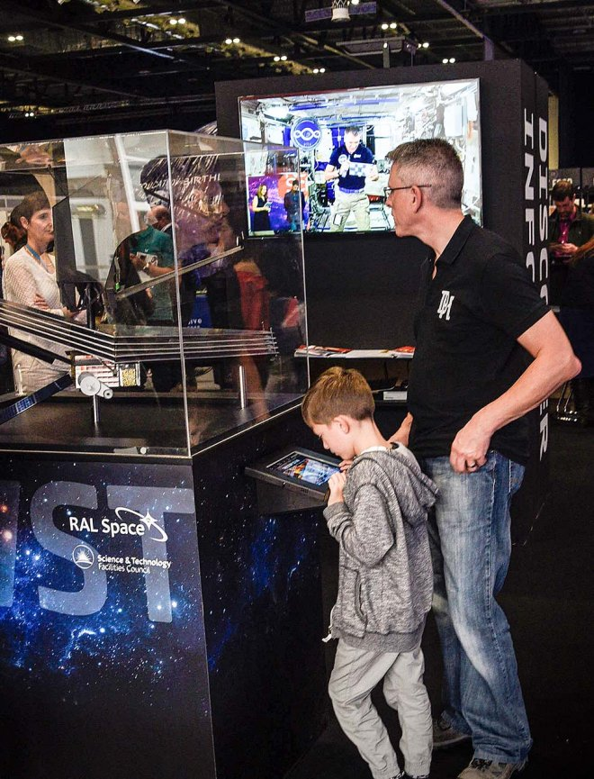 James Webb Space Telescope Interactive App Display by Ouno Creative, Farnborough.
