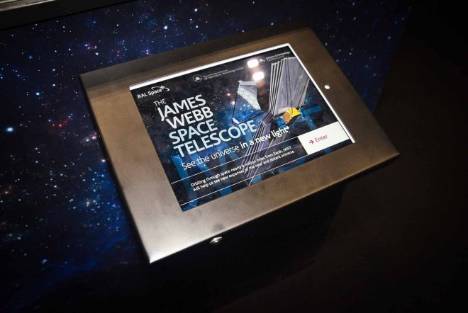 James Webb Space Telescope Interactive Display by Ouno Creative, Farnborough.