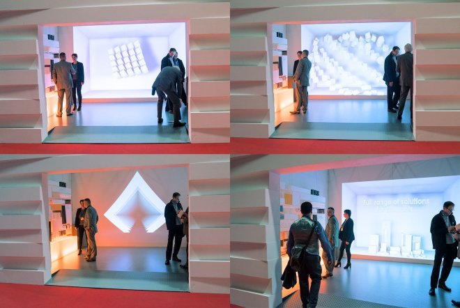 Jablite Exhibition Stand 3D Projection Graphics by Ouno Creative, Hampshire