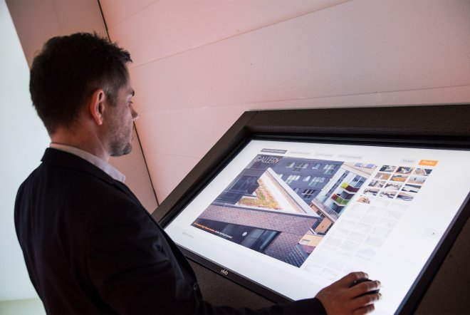 Jablite Exhibition Stand Interactive Touch Screen by Ouno Creative, Hampshire