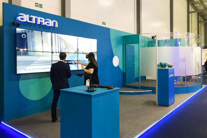 Altran exhibition stand design and build by Ouno Creative, Hampshire.