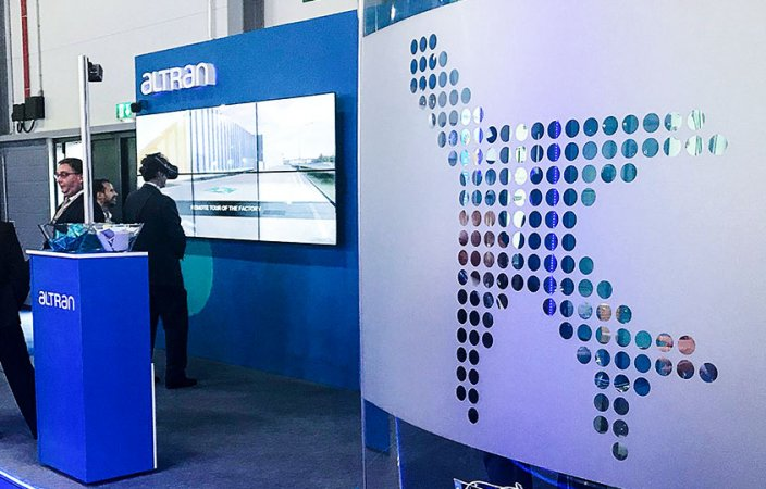 Video wall and VR-immersive demonstrate Altran's Aerospace 4.0 credentials