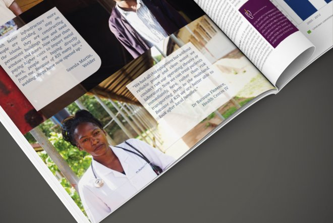InfraCo Africa Annual Report, Corporate Branding and Print by Ouno Creative, Hampshire.