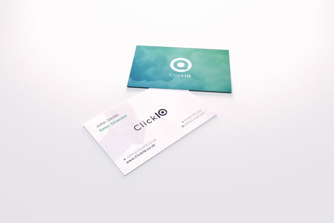 Click IQ Branding, business cards and print by Ouno Creative, Hampshire