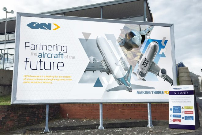 GKN Aerospace Branding, Exhibition Design, Chalet Design, Large Scale Graphics