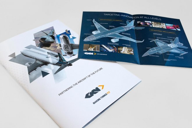 GKN Aerospace Corporate Branding, Print Design, Aerospace Design