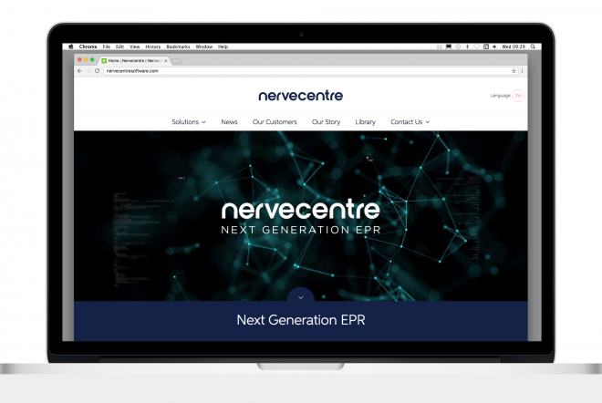 Nervecentre Software Branding by Ouno Creative, Farnborough.