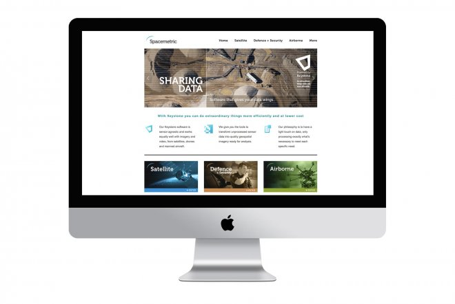 Spacemetric Keystone Website Design by Ouno Creative