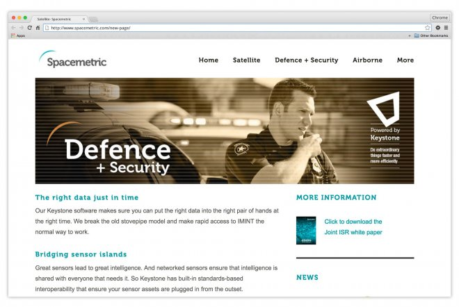 Spacemetric Keystone Website Design and Build n by Ouno Creative