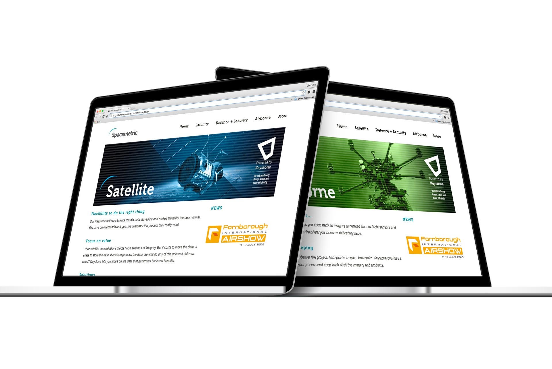 Spacemetric Keystone Branding and Website Design by Ouno Creative