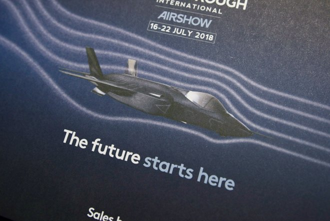 Farnborough International Airshow 2018 Print Design by Ouno Creative, Farnborough.