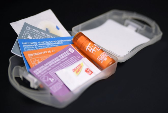 Airshow Survival Kit for Farnborough International Airshow 2018. Branding by Ouno Creative