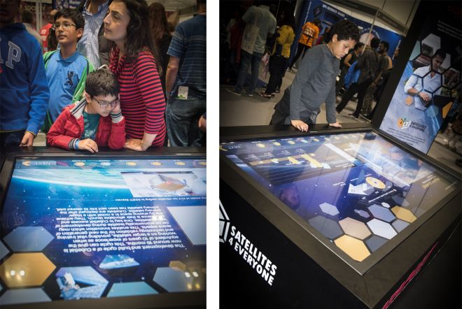 ESA New Scientist Live 2017 Large Format Interactive Touchscreen by Ouno Creative, Farnborough