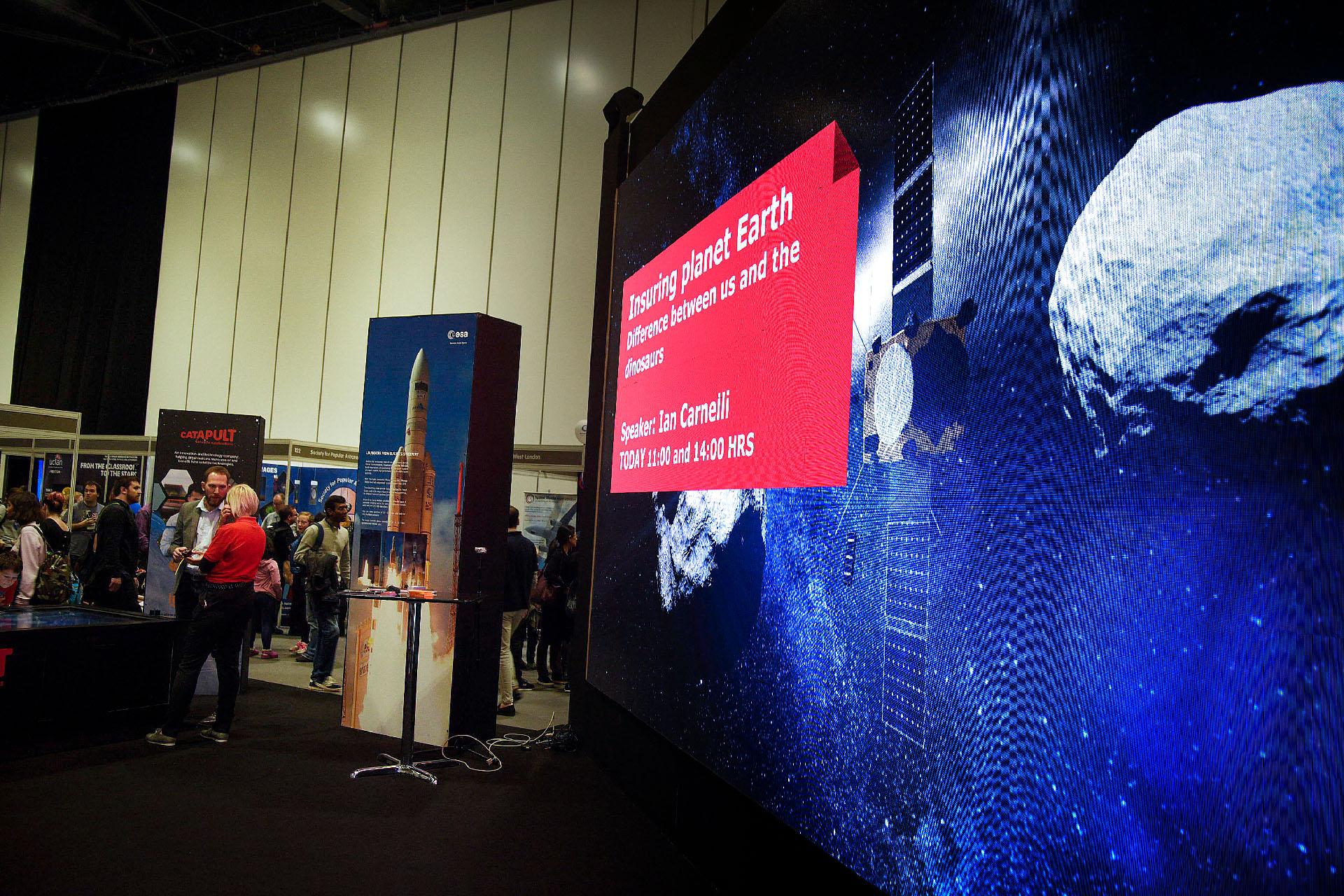 ESA New Scientist Live 2017 Large Format LED Screen Wall by Ouno Creative, Farnborough