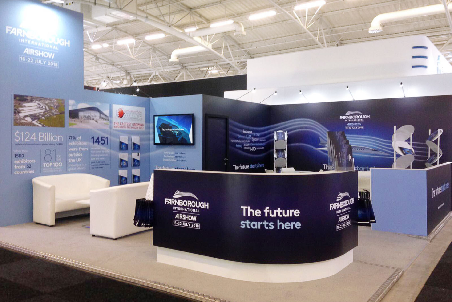 FIA Paris Airshow Exhibition Stand Design by Ouno Creative, Farnborough.