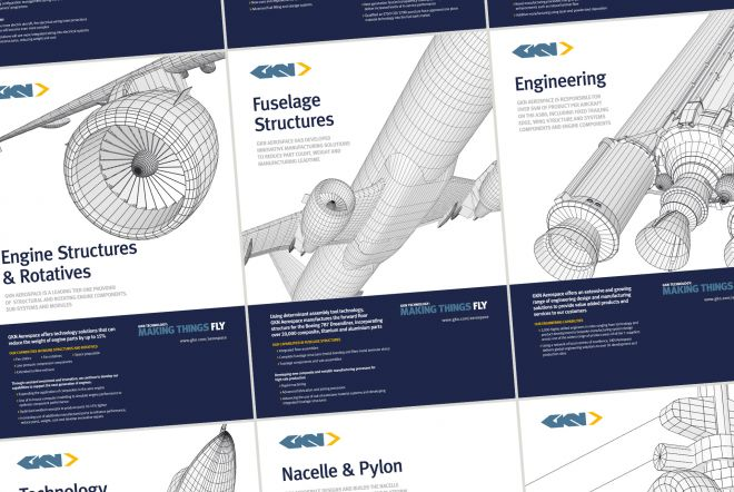GKN Pavilion at Farnborough International Airshow 2016, 3D Graphic Posters by Ouno Creative, Hampshire.