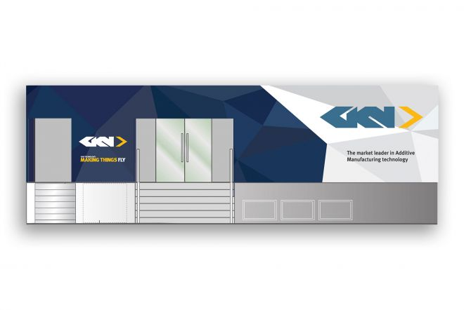 GKN Paris Chalet Exhibition Large Scale Graphics by Ouno Creative