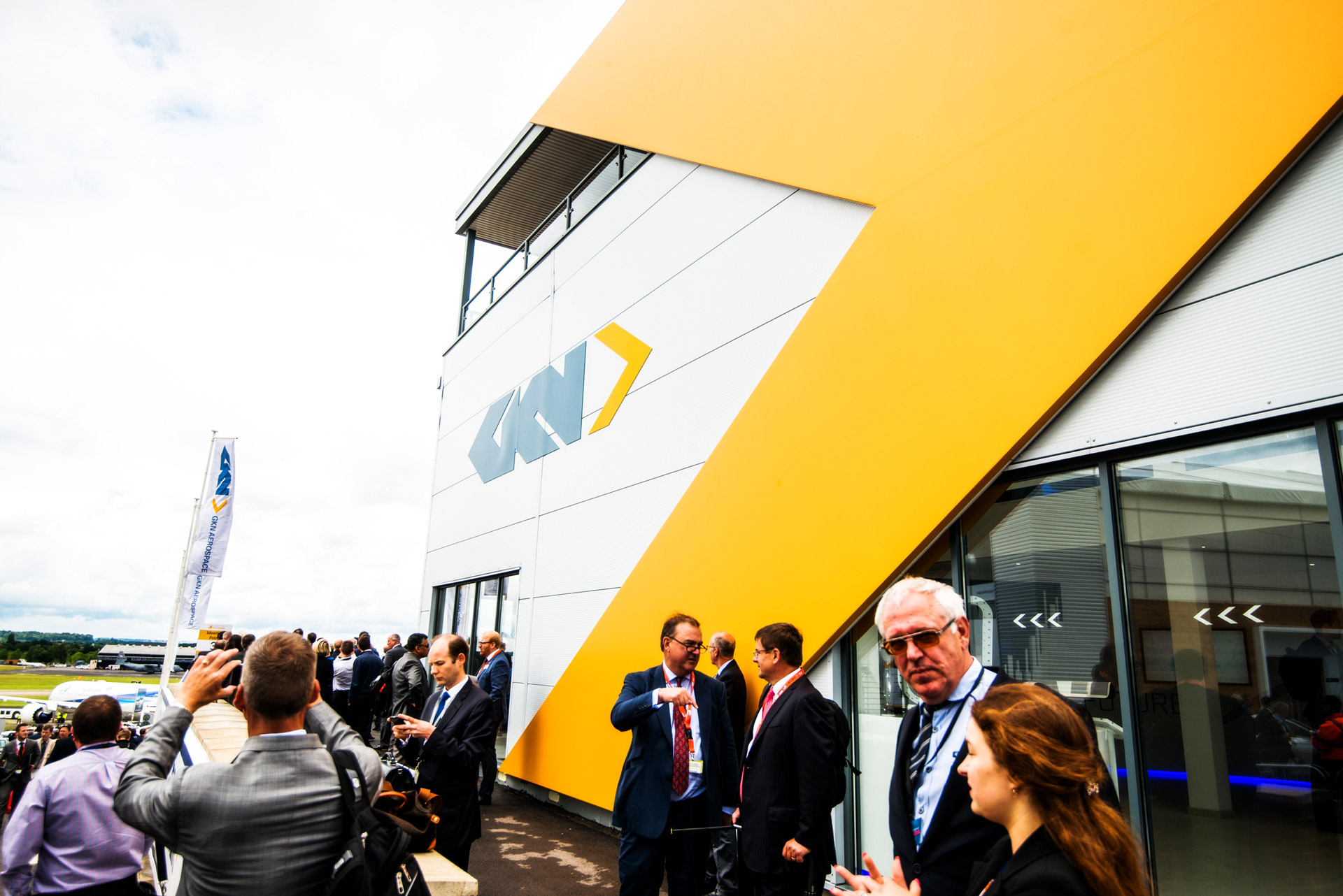 GKN Pavilion at Farnborough International Airshow 2016 design and build by Ouno Creative, Hampshire.