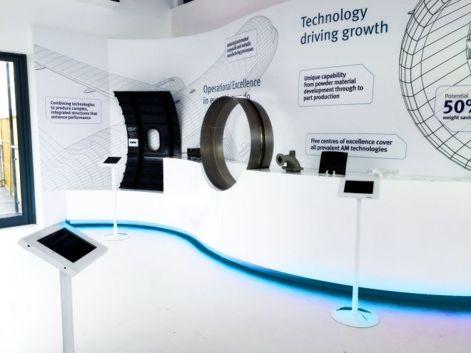 GKN Pavilion at Farnborough International Airshow 2016, Exhibition Chalet Design by Ouno Creative, Hampshire.