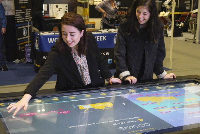 ESA New Scientist Live 2017 Large Format Interactive Touchscreen by Ouno Creative, Farnborough.