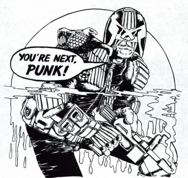 Dredd. Britiain's gift to is the world of comic culture.