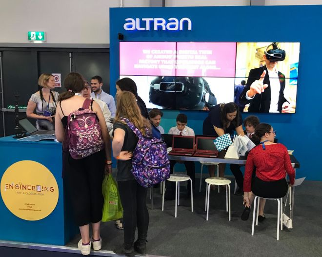 Altran stand FIA2018 visitors