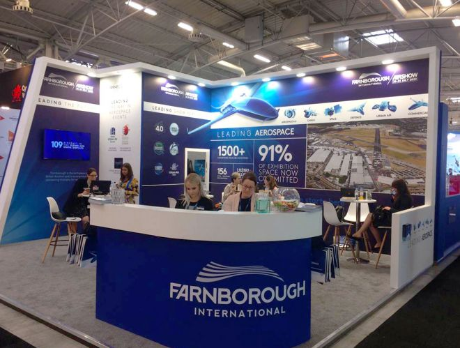 FIA 2020 campaign Paris Airshow stand design by Ouno Creative