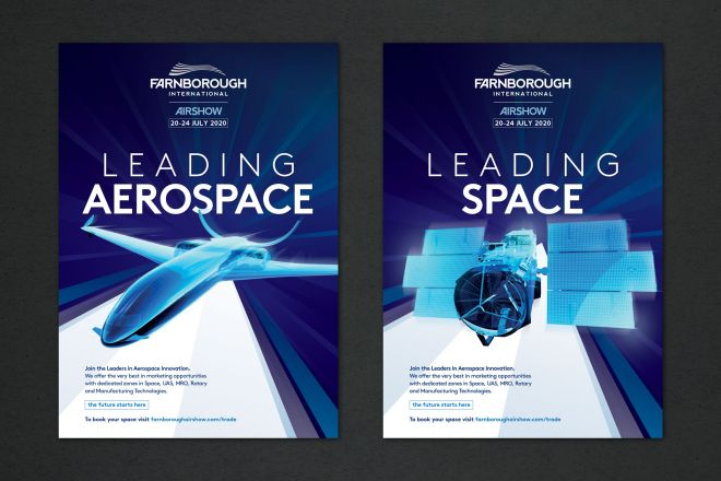 Farnborough International Airshow 2020 campaign design by Ouno Creative