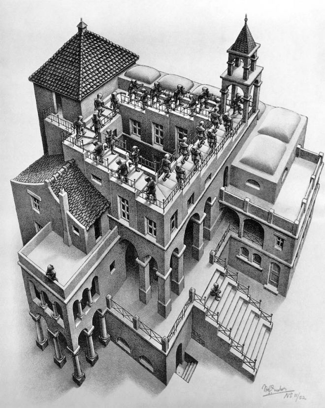ascending-and-descending-by-m-c-escher