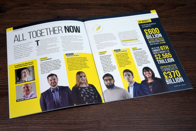 COLAS ONE magazine rebrand by Ouno Creative in South East England
