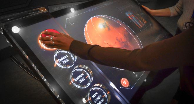 ESA touchtable in use 1-2.2